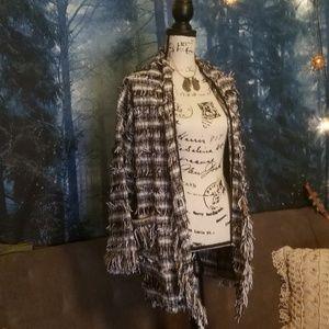 Zara Boho Cardigan Coat Dark Strega Boho Chic S